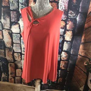 ALFANI XL sleeveless top. Color cranberry spice.